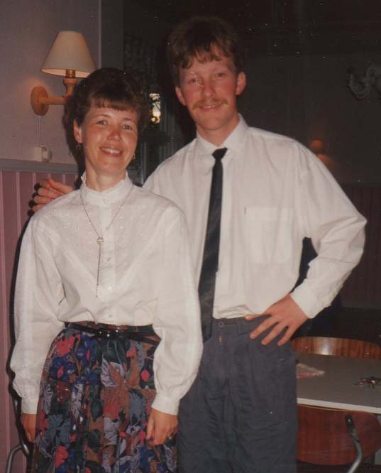 1989 Utsendelsefest for fam Elverhøi AnneBerit og Ragnar