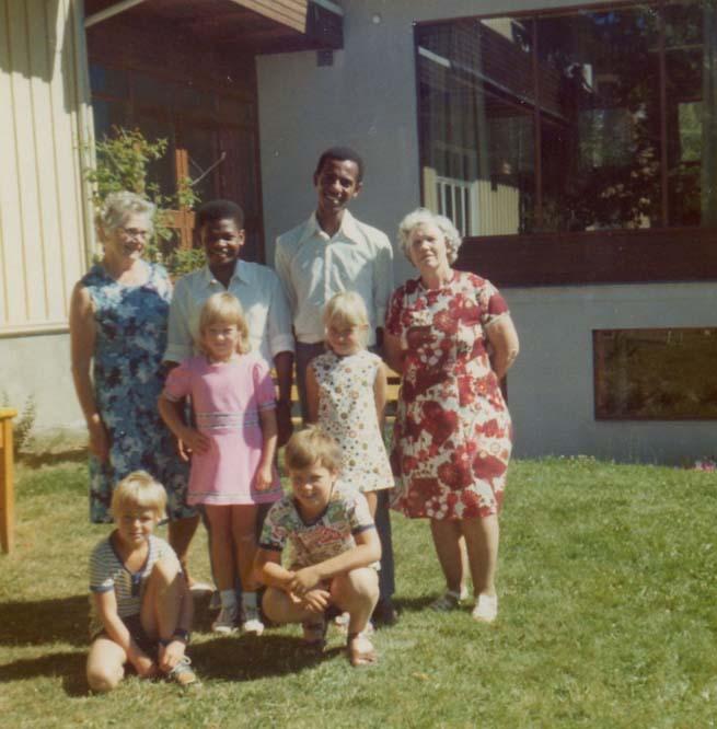 1976 Tante Else, Benjamin, George, Agnes